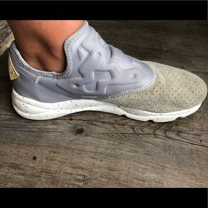 Gray Reebok Sneakers with Ortholite insoles